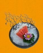 全省素食-懷石晶鑽生魚片